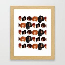 Natural Hair Girls Framed Art Print
