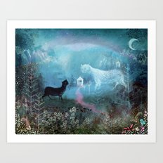 Valley Ghosts Art Print