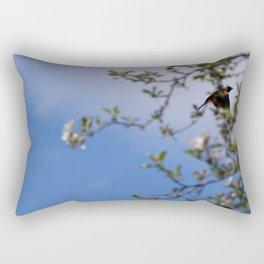 Red Wing Black Bird Rectangular Pillow