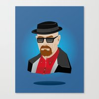 heisenberg Canvas Prints featuring Heisenberg by Kody Christian