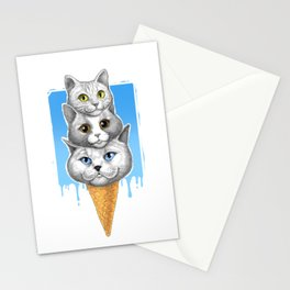Ice-cream cats Stationery Cards