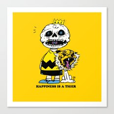 Happiness Is A Tiger Canvas Print