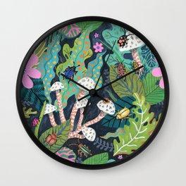 Beetle Pattern Wall Clock