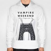 vampire weekend Hoodies featuring Vampire Weekend / George Washington Bridge by Harold's Visuals