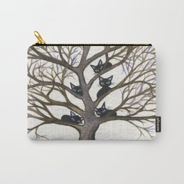 Hackensack Whimsical Cats in Tree Carry-All Pouch