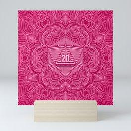 Natural 20 Mandala Seduced by a Bard Mini Art Print