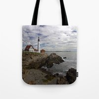 maine Tote Bags featuring Maine Splendor by Catherine1970