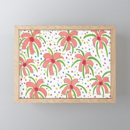 Tropical Fiesta Flowers Framed Mini Art Print