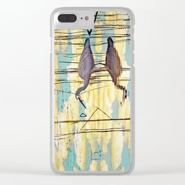 Wading Through Clouds Clear iPhone Case