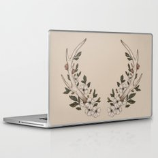Floral Antler Laptop & iPad Skin