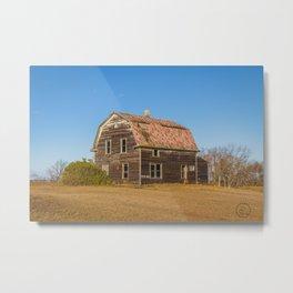 Barn House, Wells County, North Dakota 3 Metal Print