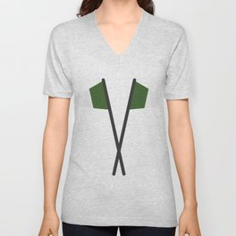 nigeria flag Unisex V-Neck