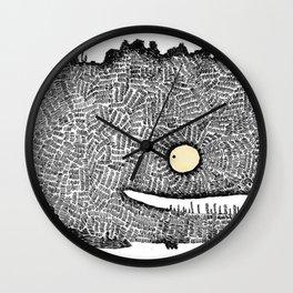Scribbly monster Wall Clock