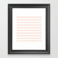 PEACH STRIPES Framed Art Print