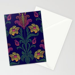 Flowers embroidery Stationery Cards
