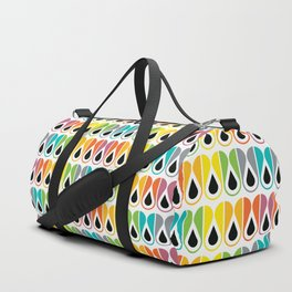 Scandinavian Pattern 120 (colorful loops) Duffle Bag