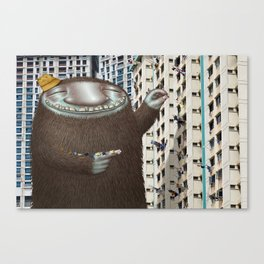 Friendly Laundry Monster in Singapore Canvas Print