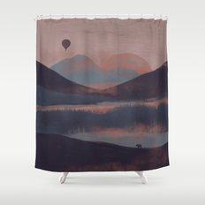 Adrift in the Mountains... Shower Curtain