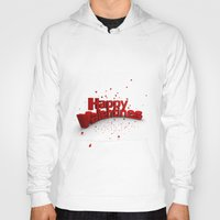 valentines Hoodies featuring Happy Valentines by Tom Lee
