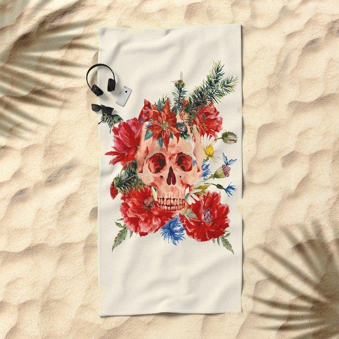 The latest heart is dead Beach Towel