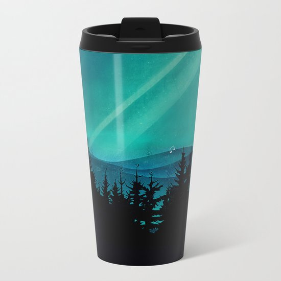 Magic in the Woods - Turquoise Metal Travel Mug