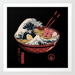 Great Ramen Wave Art Print