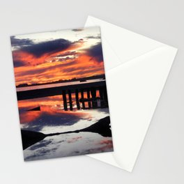 Monterrey on fire Stationery Cards