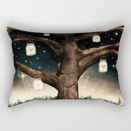 Rustic Mason Jar Tree Rectangular Pillow