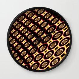 Circles fractal's pattern Wall Clock