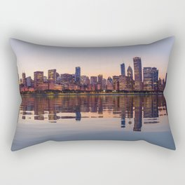 Panorama of the City skyline of Chicago Rectangular Pillow