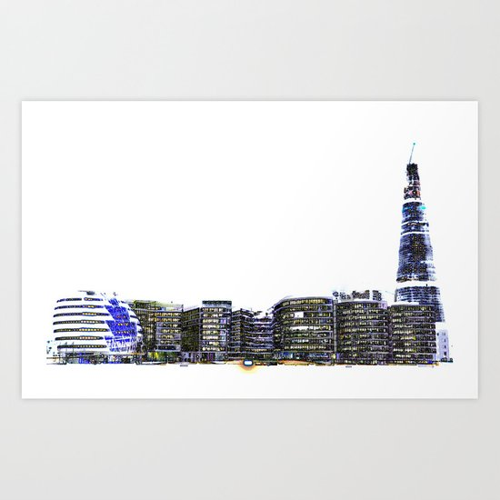 The Shard and London South Bank Art Print