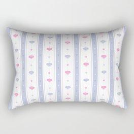 Soft Flowers Wallpaper Rectangular Pillow