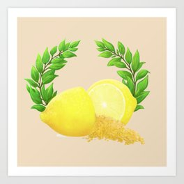 When Life Gives You Lemons, You Paint That **** Gold Art Print