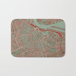 Amsterdam city map pop Bath Mat