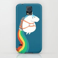 Fat Unicorn on Rainbow Jetpack Slim Case Galaxy S5