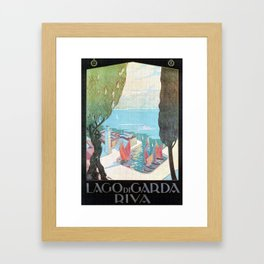 1920 Riva Del Garda Framed Art Print