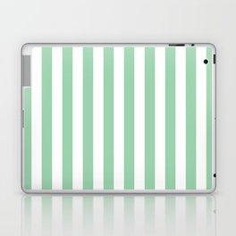 Mint Green Small Even Stripes Laptop & iPad Skin