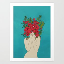 Blooming Red Art Print