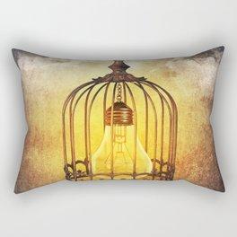 lightbulb in cage Rectangular Pillow