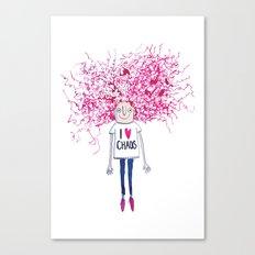 I love Chaos Canvas Print