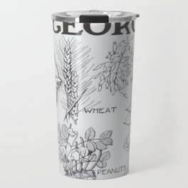 Vintage Agricultural Map of Georgia (1915) Travel Mug