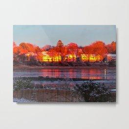 Snowy November Sunset Metal Print