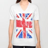 uk V-neck T-shirts featuring UK by arnedayan