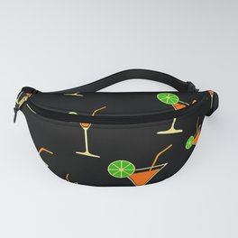 Black Margarita drink Fanny Pack