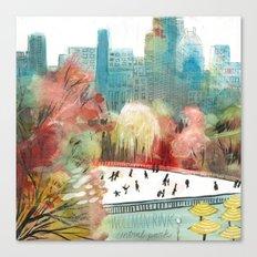 Wollman Rink Central Park Canvas Print