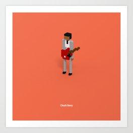 Voxel Chuck Berry Art Print