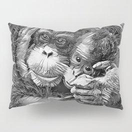 AnimalArtBW_OrangUtan_20170603_by_JAMColors-Special Pillow Sham