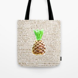 Psych Revamped! Complete List of Gus Nicknames! Tote Bag