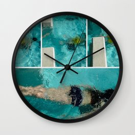 To swim Wall Clock