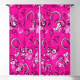 Gamers-Pink Blackout Curtain